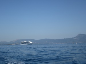 Cruising around Corfu